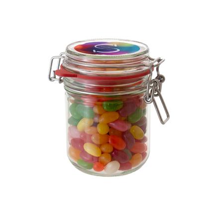 Snoeppot jelly beans met logo als relatiegeschenk