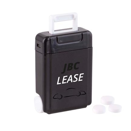 Pepermunt dispenser met logo kleur zwart