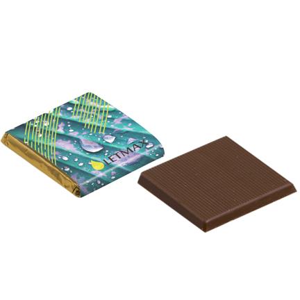 Chocolaatje met eigen logowikkel voor bij de koffie
