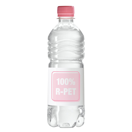 100% gerecycled Waterflesje 500ml met logo