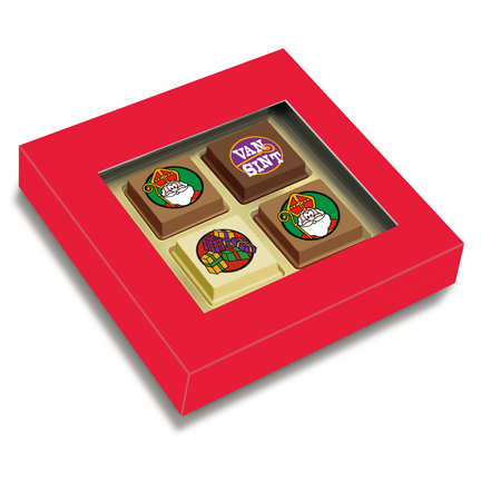 4 Sintbonbons als give-away voor Sinterklaas