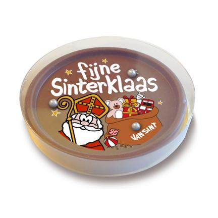 Sint chocoladespelletje als give-away voor Sinterklaas