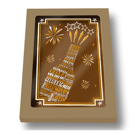 Nieuwjaars chocoladetablet
