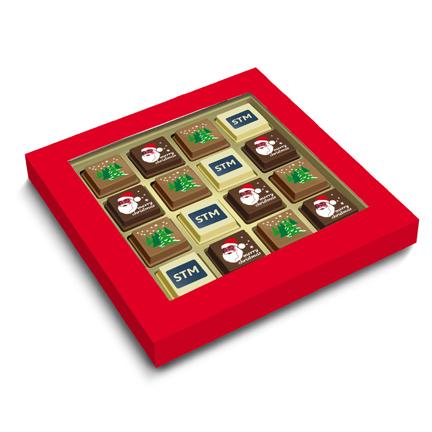 Logo-Kerstbonbons als relatiegeschenk