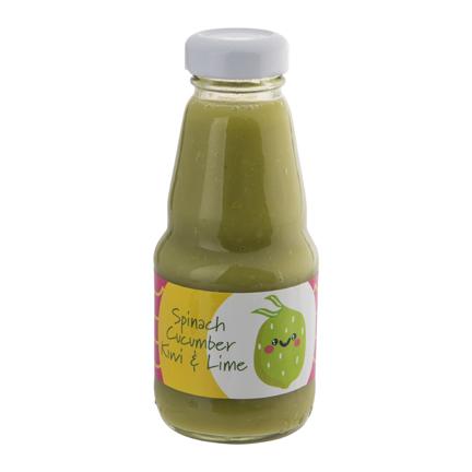 Groene smoothie met logowikkel