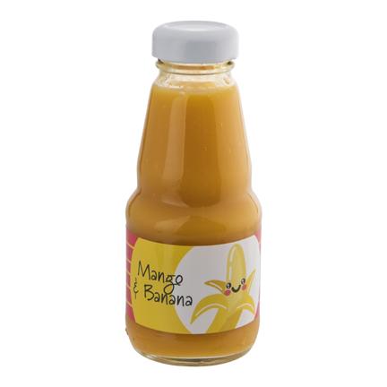 Gele smoothie met logowikkel