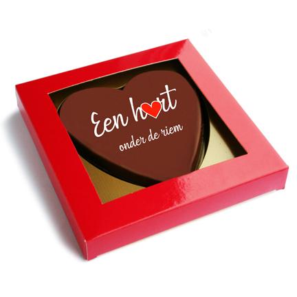 Chocoladehart per brievenbuspost versturen