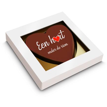 Chocoladehart per brievenbuspost voor thuiswerkers