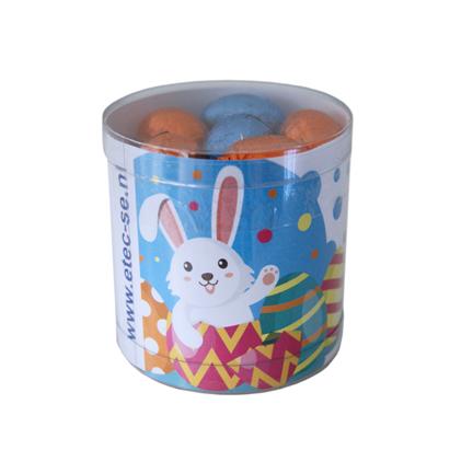 Promotionele koker paaseitjes met logo voor Pasen