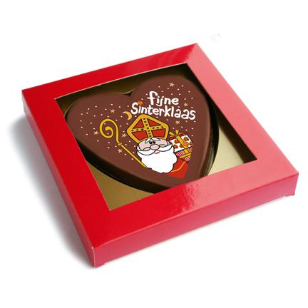 Sint chocoladehart als Sinterklaas geschenk