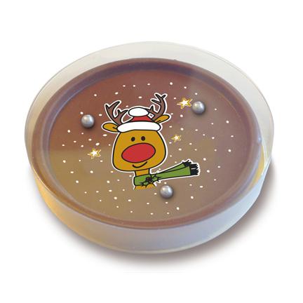 Chocoladespelletje met Kerst afbeelding