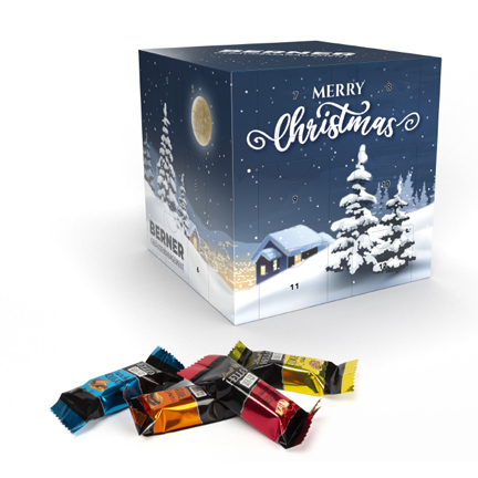 Promotionele adventskalender met Lindt chocolaatjes
