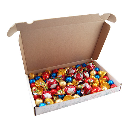Kerstdoosje met Kerstchocolade per brievenbuspost voor thuiswerkers