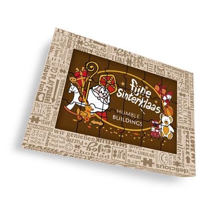 Sint chocoladepuzzel met logo