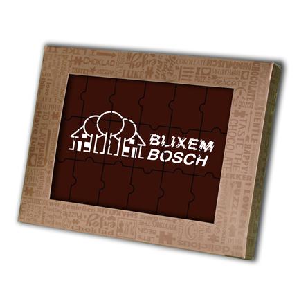Logo chocoladepuzzel als brievenbusgeschenk voor relaties