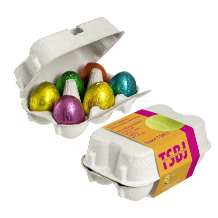 Paasgeschenk eierdoosje paaseitjes