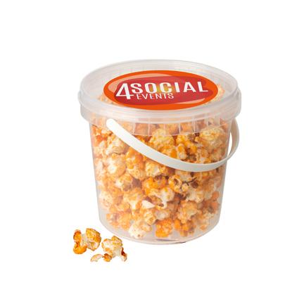 EK emmertje oranje popcorn met logo
