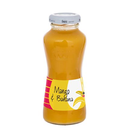 Gele smoothie met logowikkel als promotiemiddel