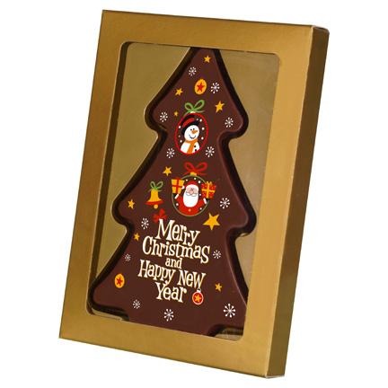 Kerstboom chocoladeplak als Kerstcadeautje
