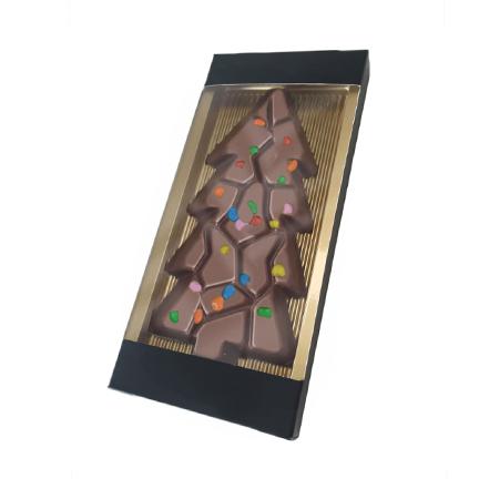 Chocoladetablet Kerstboom met smarties als Kerstkadootje