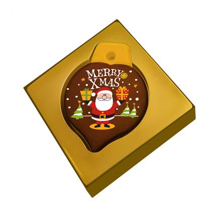 Kersthanger van chocolade als Kerstgeschenk