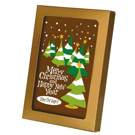 Chocolade Kerstkaart met logo als Kerstgeschenk