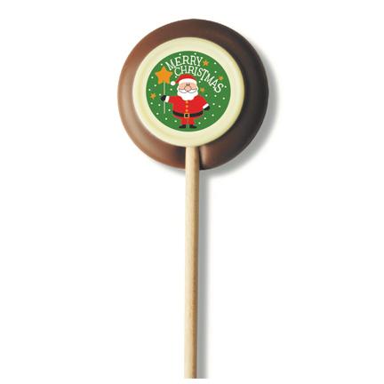 Kerstlolly van chocolade als Kerst presentje