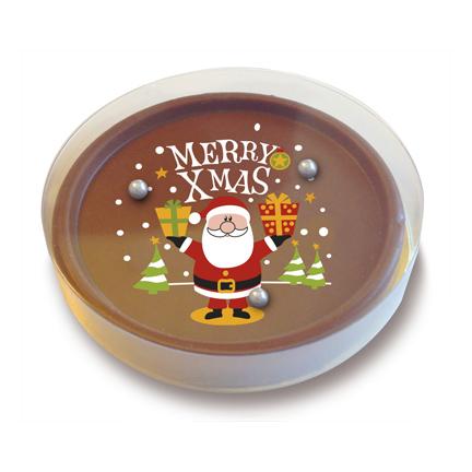 Chocolade Kerst geduldspelletje als weggevertje voor Kerst
