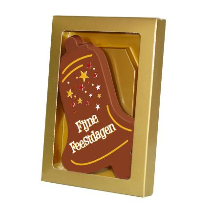Kerstbel chocoladeplak als Kerstgeschenk