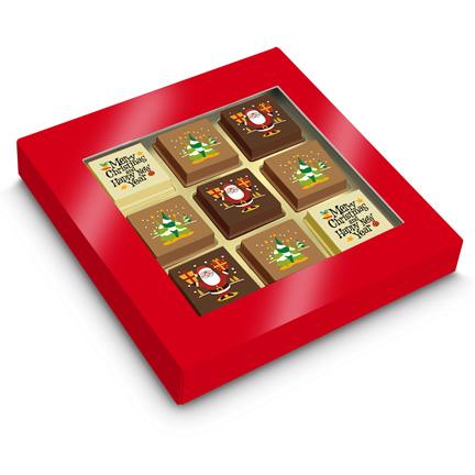 Chocolade Kerstbonbons per post versturen voor Kerst