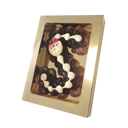 Luxe chocoladeletter als relatiegeschenk voor Sinterklaas