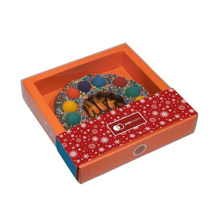 Chocolade Kerstkrans Happy Truffel met logosleeve